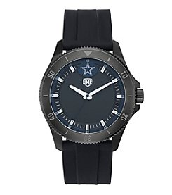 Jack Mason NFL® Dallas Cowboys Men's Blackout Silicone Watch