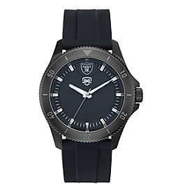 Jack Mason NFL® Oakland Raiders Men's Blackout Silicone Watch