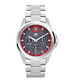 Jack Mason NFL® San Francisco 49ers Men's Silver Multifunction Watch
