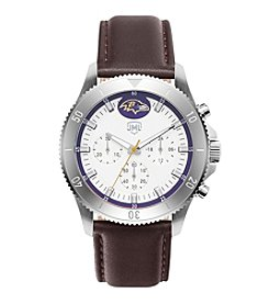 Jack Mason NFL® Baltimore Ravens Men's Chronograph Leather Strap Watch