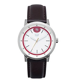 Jack Mason NFL® San Francisco 49ers Unisex Leather Strap Watch