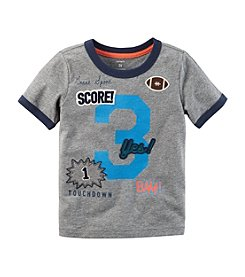 Carter's Boys' 12M-8 Sports Patch Ringer Tee