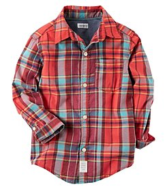 Carter's® Boys' 2T-8 Plaid Button Front Shirt