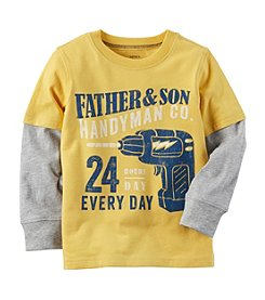 Carter's® Boys' 2T-8 Layered Look Handyman Graphic Tee
