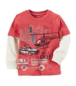 Carter's® Boys' 2T-4T Layered Look Metallic Firetruck Tee