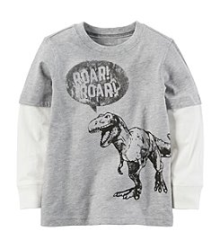 Carter's Boys' 2T-6 Layered Look Dinosaur Graphic Tee