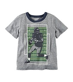 Carter's® Boys' 2T-8 Flocked Football Ringer Tee