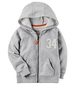 Carter's® Boys' 2T-8 Fleece Zip Front Hoodie