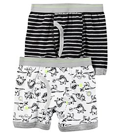 Carter's® Boys' 2-5 2-Pack Dino Print Boxer Briefs