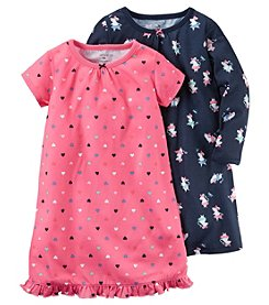 Carter's Girls' 4-14 2-Pack Mouse Print Sleep Gowns