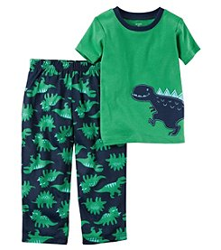 Carter's Baby Boys' 12M-4T 2 Piece Cotton and Jersey Dino Print Pajamas