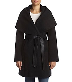 Via Spiga® Oversized Shawl Belt Coat
