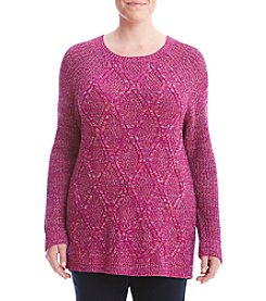 Studio Works® Plus Size Diamond Cable Sweater