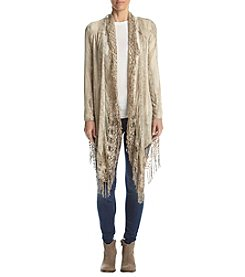 Oneworld® Cozy Fringe Trim Cardigan
