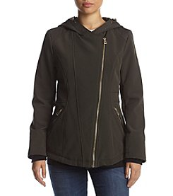 GUESS Asymmetical Hooded Softshell Jacket