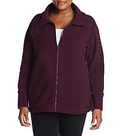 Calvin Klein Plus Size Performance Embroidered Fleece Jacket