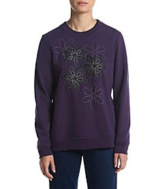 Breckenridge® Petites' Radiant Jeweled Flowers Fleece