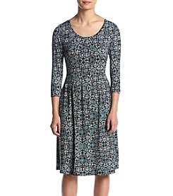 Studio Works® Petites' Abstract Floral Print Dress