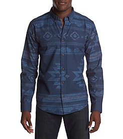 Levi's Men's Reaves Geo-Print Chambray Button Down Shirt