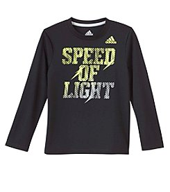 adidas® Boys' 2T-7X Long Sleeve Speed Of Light Tee