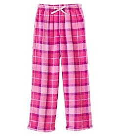 Calvin Klein Girls' 5-16 Plaid Fleece Pants