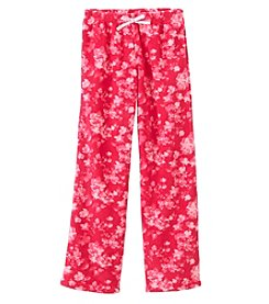 Calvin Klein Girls' 5-16 Floral Fleece Pants