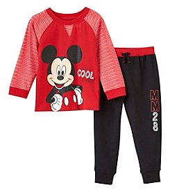 Disney® Boys 2T-4T Mickey Mouse® Knit Pullover And Pants