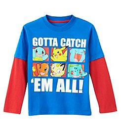 Pokemon® Boys' 4-7 Long Sleeve Pokemon Tee Shirt