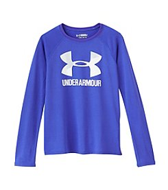 Under Armour® Girls' 4-6X Long Sleeve Big Logo Slash Tee