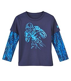 Under Armour® Boys 4-7 Long Sleeve Digital Quarterback Slider Tee