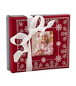 MKT@Home Set of 2 Red & Grey Snowflake Photo Albums