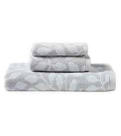 Laura Ashley® Leaf Print Towel Collection