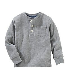 OshKosh B'Gosh® Boys' 2T-7 Long Sleeve Thermal Pocket Henley Top