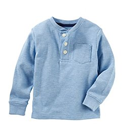 OshKosh B'Gosh&Reg; Boys' 2T-7 Long Sleeve Thermal Pocket Henley Top