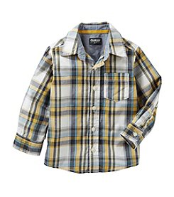 OshKosh B'Gosh® Boys' 2T-7 Long Sleeve Woven Plaid Shirt