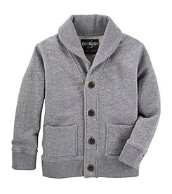 OshKosh B'Gosh® Boys' 2T-8 Long Sleeve Shawl Collar Button Cardigan
