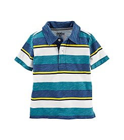 OshKosh B'Gosh® Boys' 2T-7 Short Sleeve Striped Jersey Polo Tee