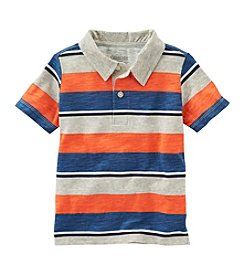 OshKosh B'Gosh® Boys' 2T- 7 Short Sleeve Striped Jersey Polo