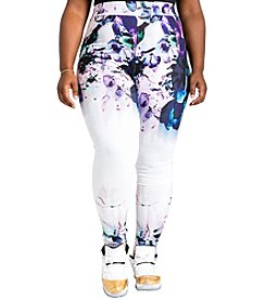 Poetic Justice® Plus Size Lena Printed Leggings