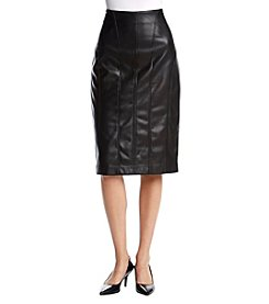 Ivanka Trump® Faux Leather Skirt