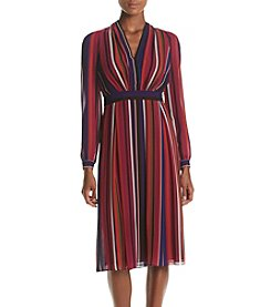 Anne Klein® Printed Fit And Flare Dress