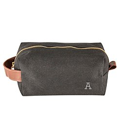 Cathy's Concepts  Men's Personalized Waxed Canvas & Leather Dopp Kit