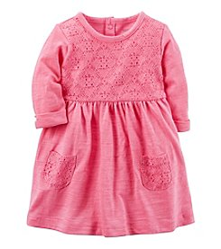 Carter's Baby Girls' Lace Jersey Dress