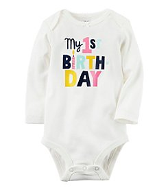 Carter's Baby Girls' My 1st Birthday Collectible Bodysuit