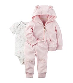 Carter's Baby Girls' 3 Piece Animal Print Little Jacket Set