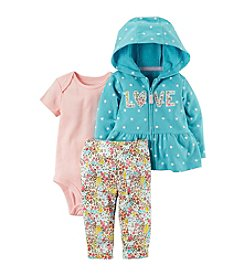 Carter's Baby Girls' 3 Piece Love Print Little Jacket Set