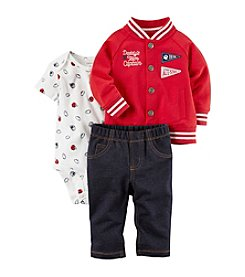 Carter's Baby Boys' 3 Piece Daddy's Team Captain Little Jacket Set