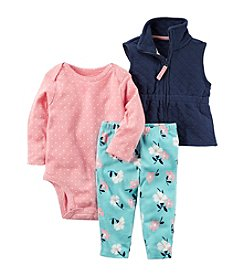 Carter's Baby Girls' 3 Piece Little Vest Set
