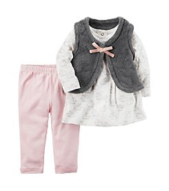 Carter's Baby Girls' 3 Piece Bunny Print Little Vest Set