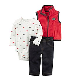 Carter's Baby Boys' 3 Piece Sports Little Vest Set